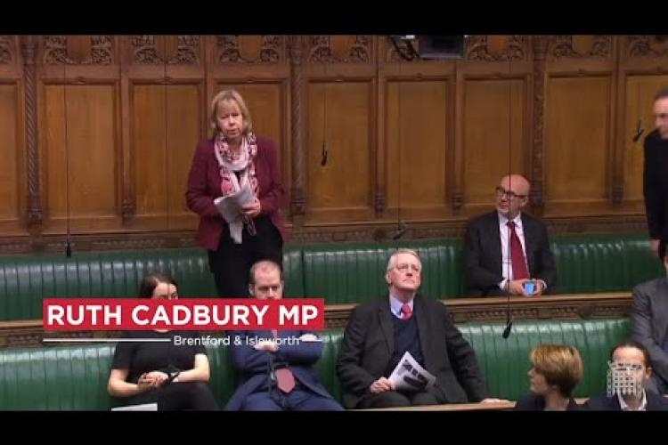 Ruth Cadbury MP addresses Parliament